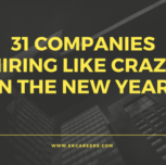 31 Companies Hiring Like Crazy in the New Year!